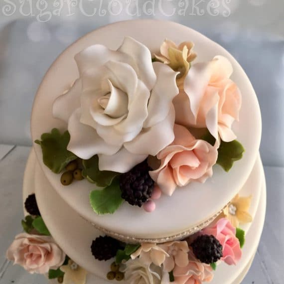 Wedding Cake - Crewe Hall, Cheshire