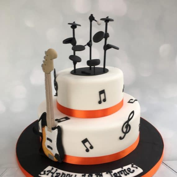Music 18th Birthday Cake - Drums and Bass