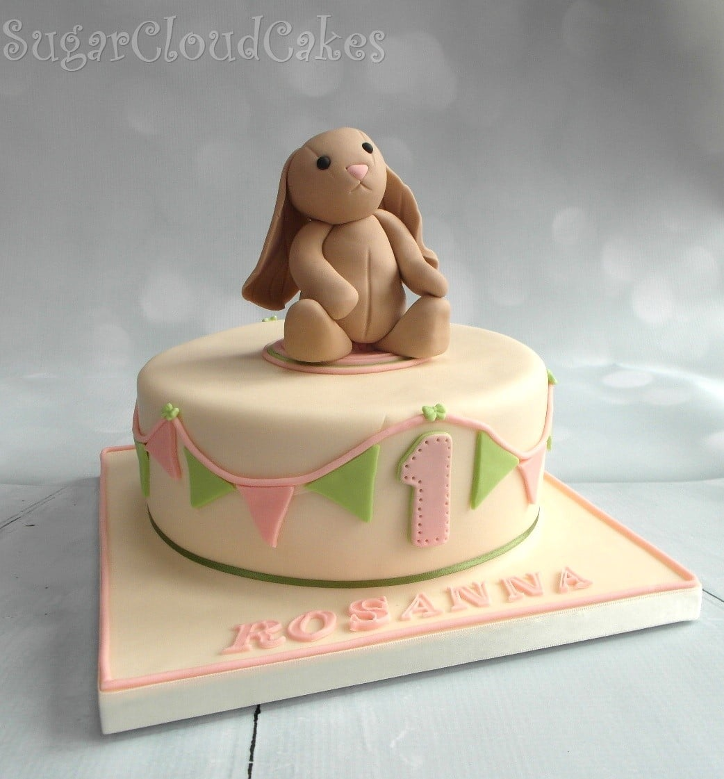 Rabbit Teddy Birthday Cake
