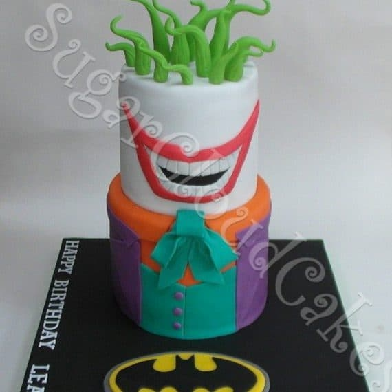 Batman and the Joker Birthday Cake