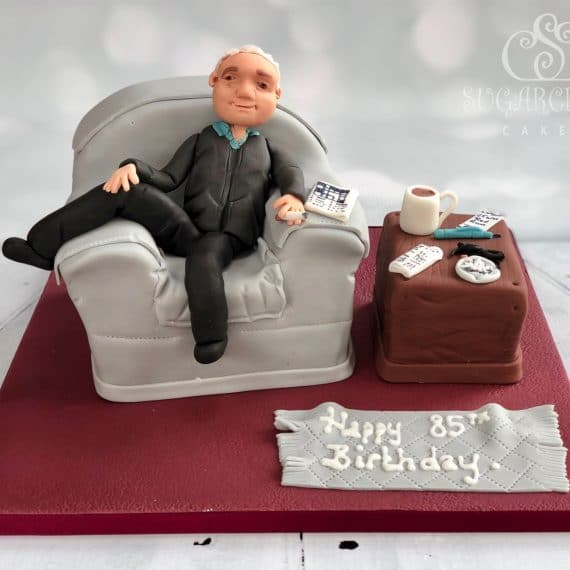 Armchair birthday cake