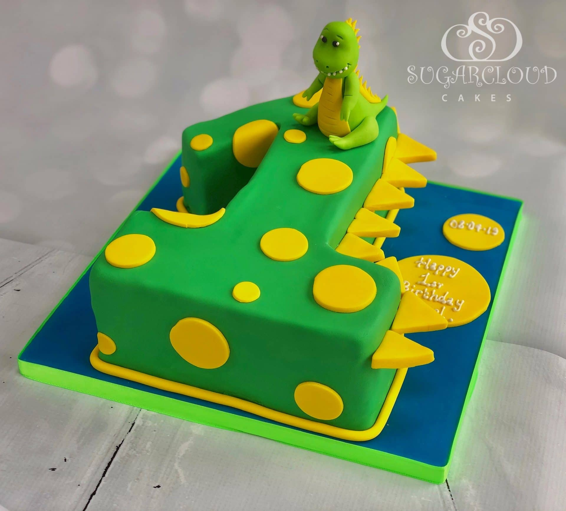Dinosaur Themed 1st Birthday Cake