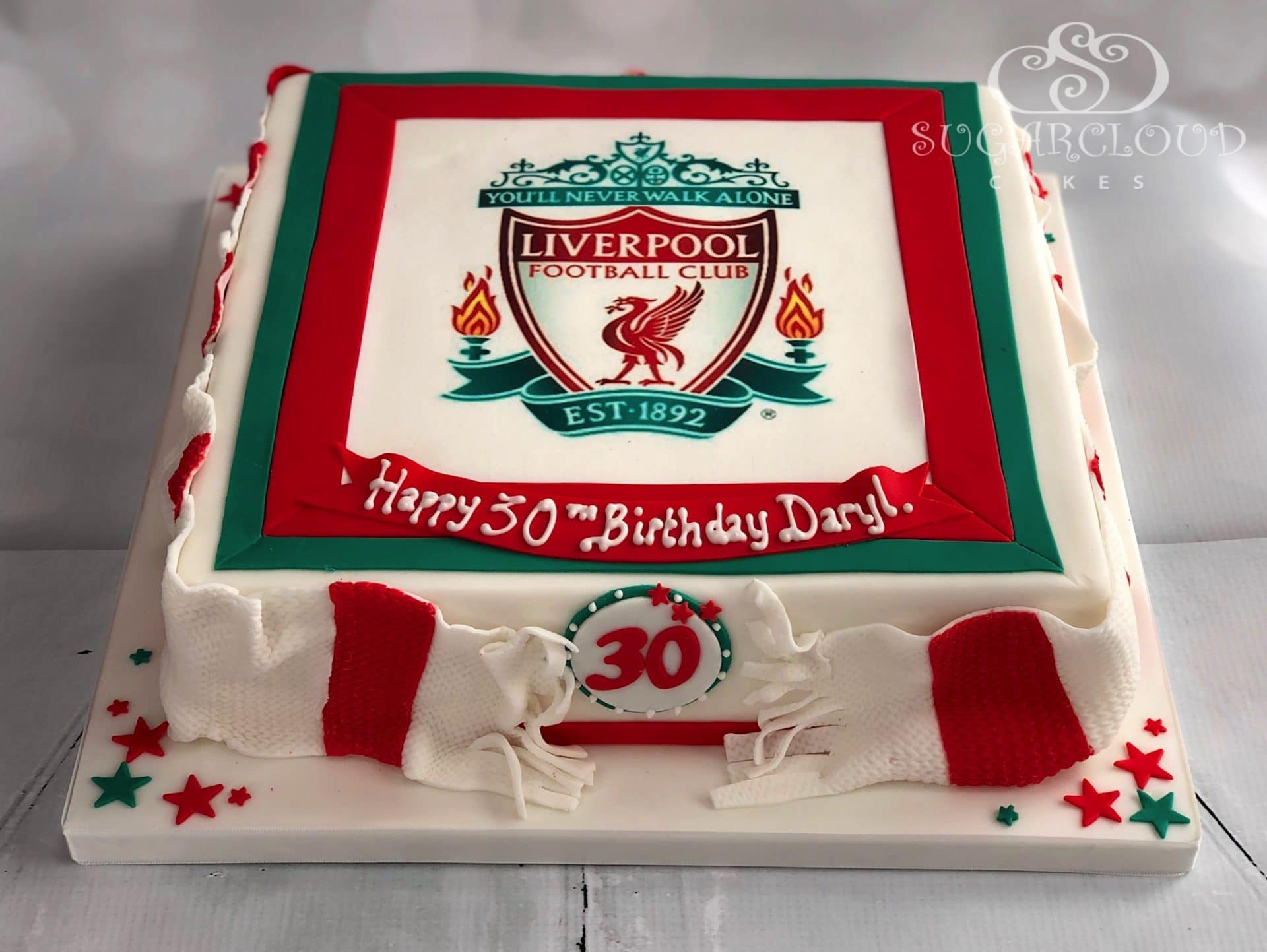 Liverpool Football Club 30th Birthday Cake