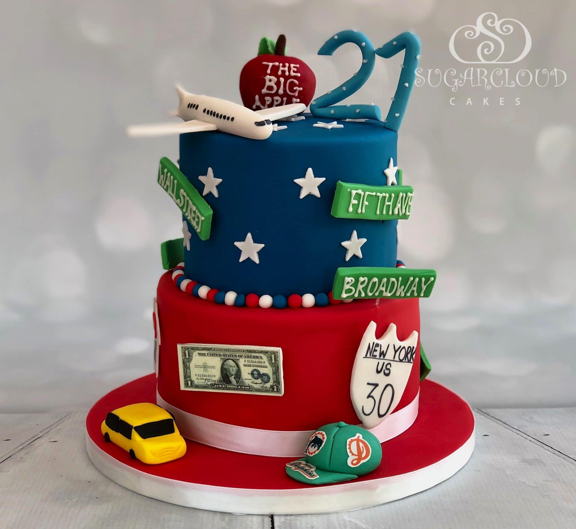 American Themed 21st Birthday Cake