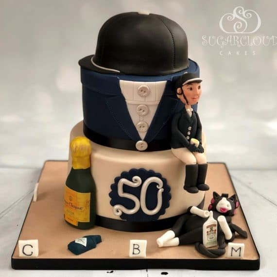 50th Birthday Horse Dressage Cake