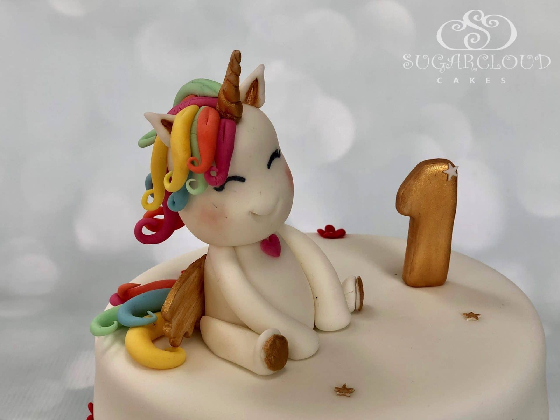 Unicorn First Birthday Cake