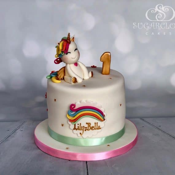 Unicorn 1st Birthday Cake
