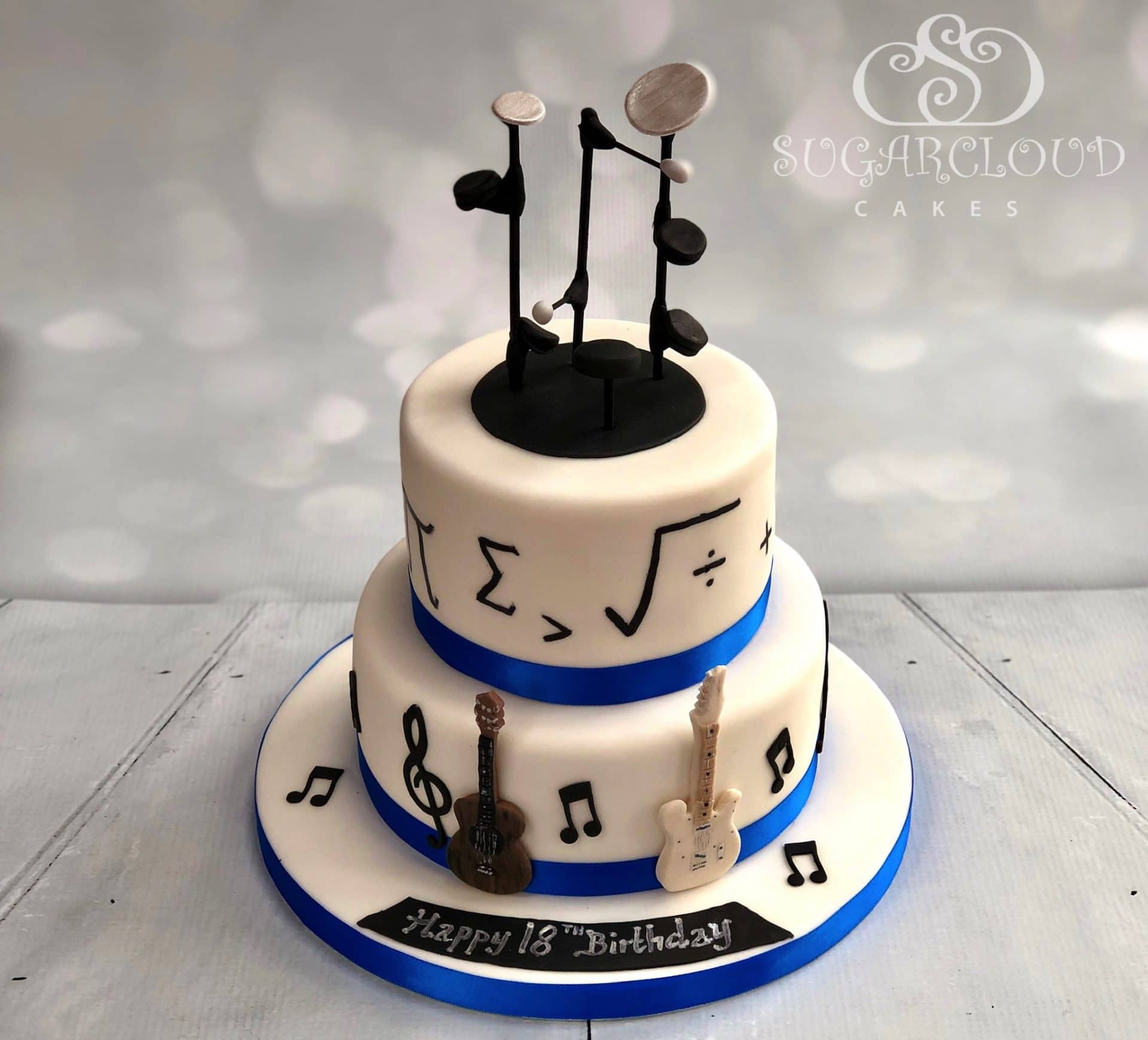 Music and Maths 18th Birthday Cake