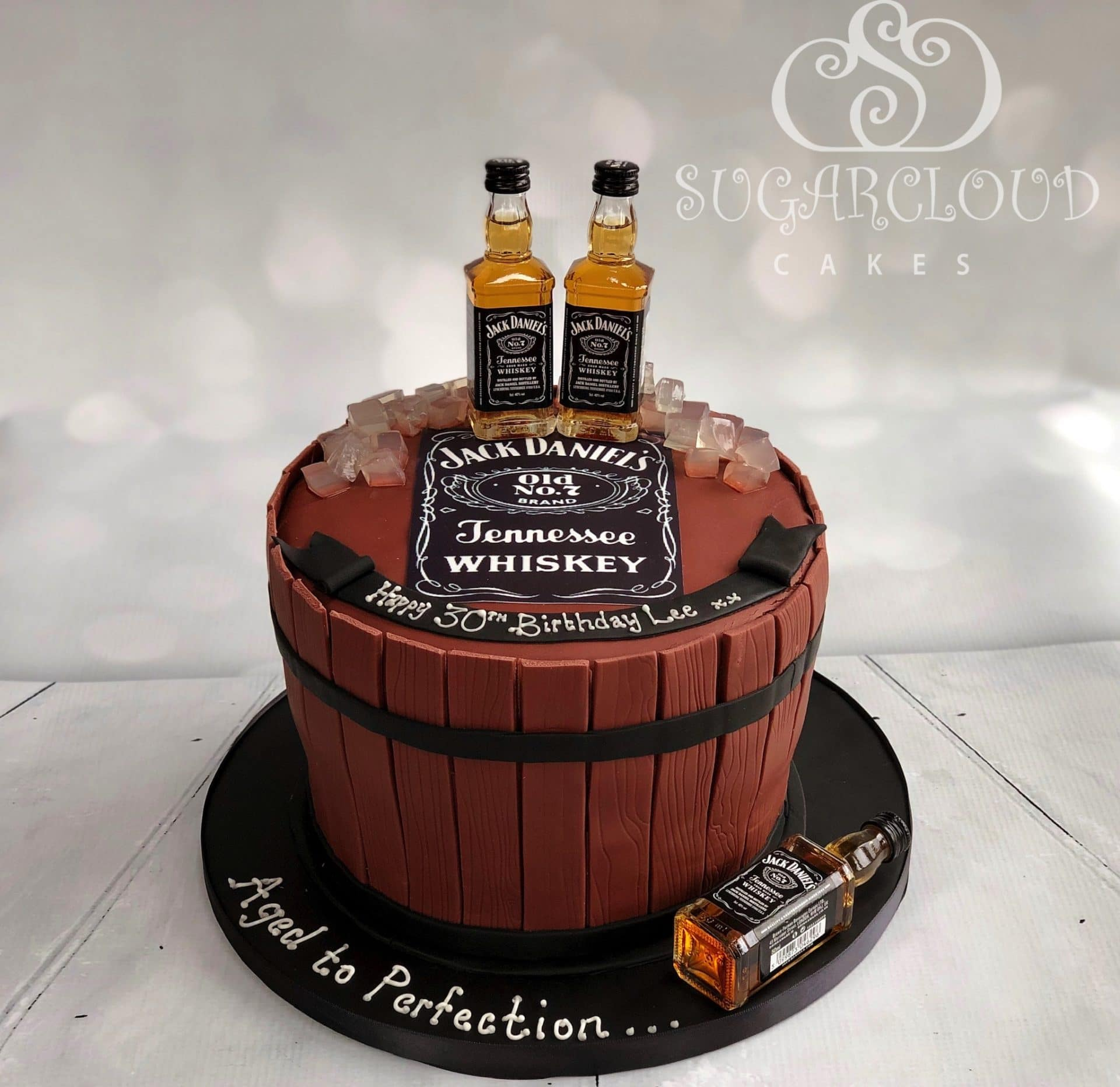 Jack Daniel's 30th Birthday Whiskey Cake