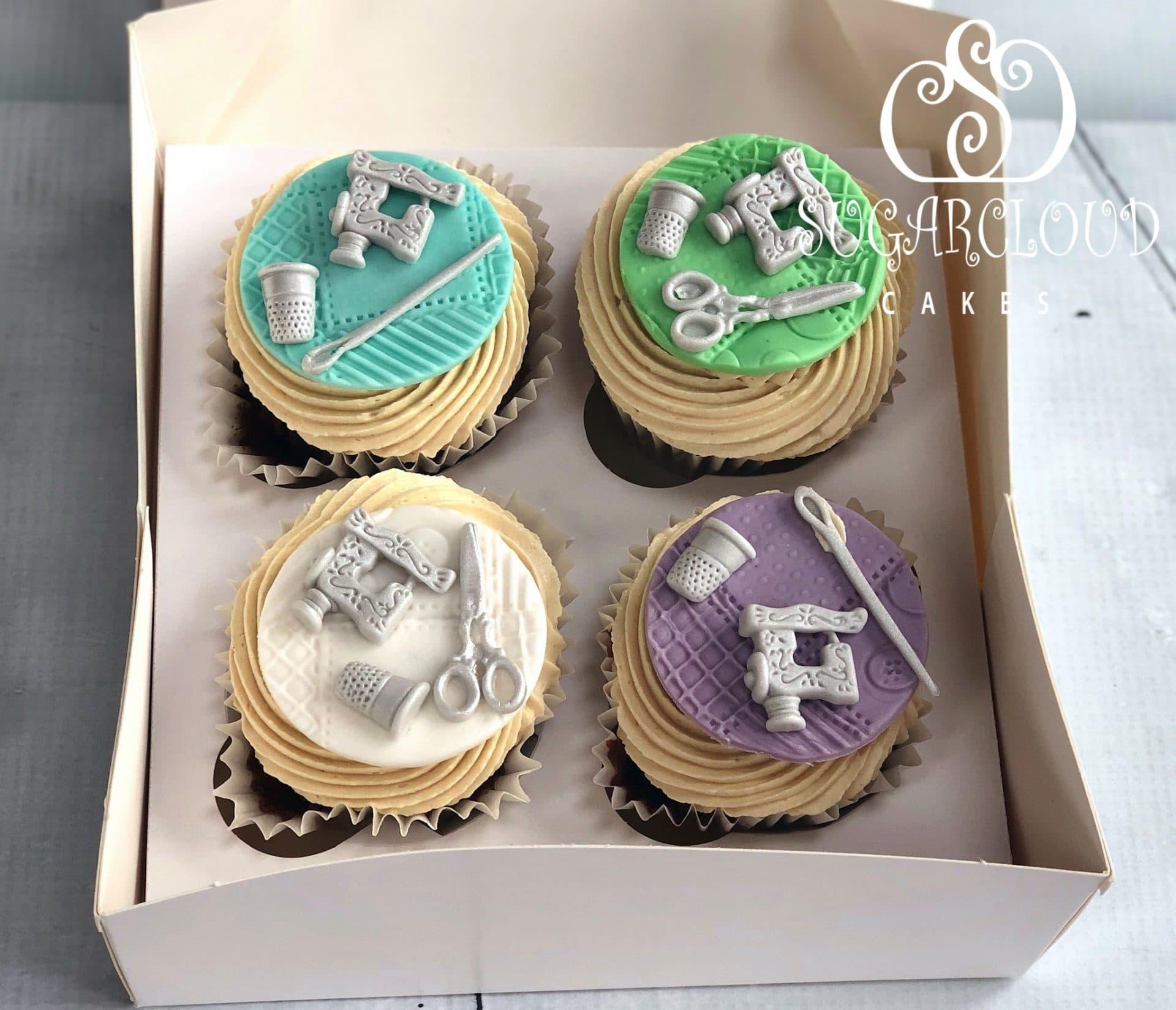 Matching gluten free cupcakes