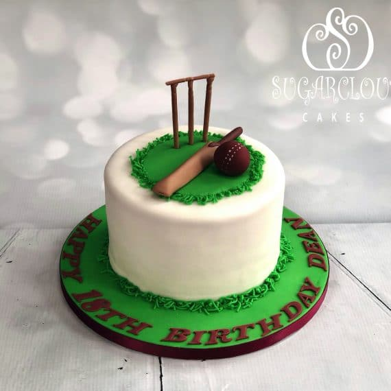 Cricket themed 18th Birthday Cake