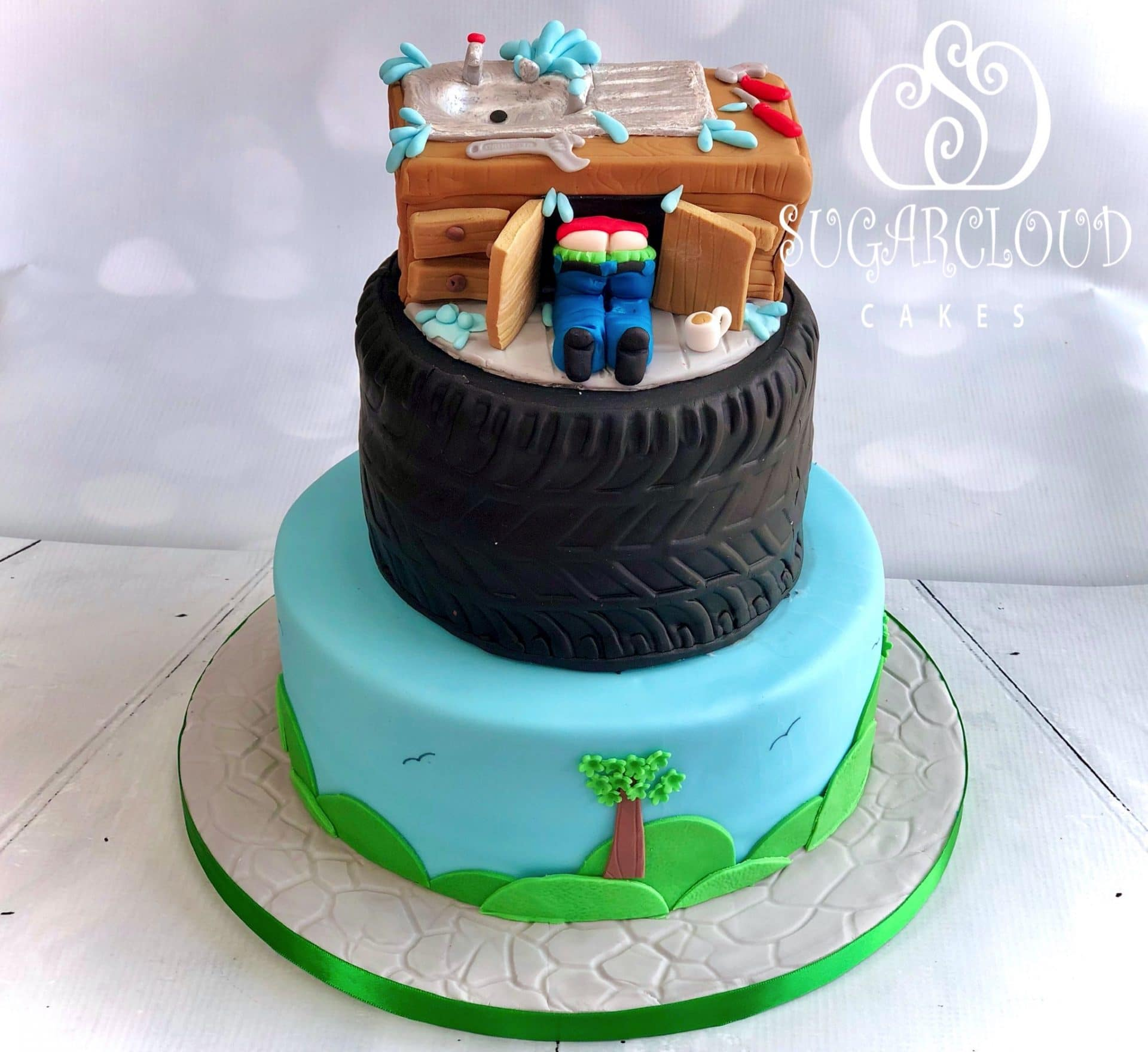 Surprise 40th Birthday Plumber Cake