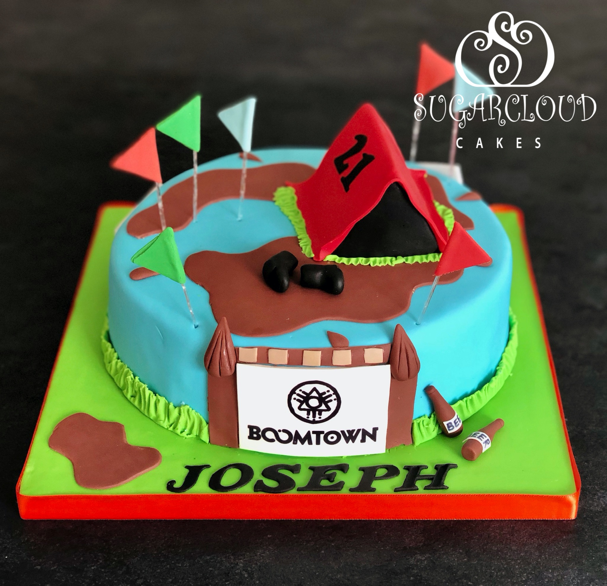A Boomtown Festival Themed 21st Birthday Cake