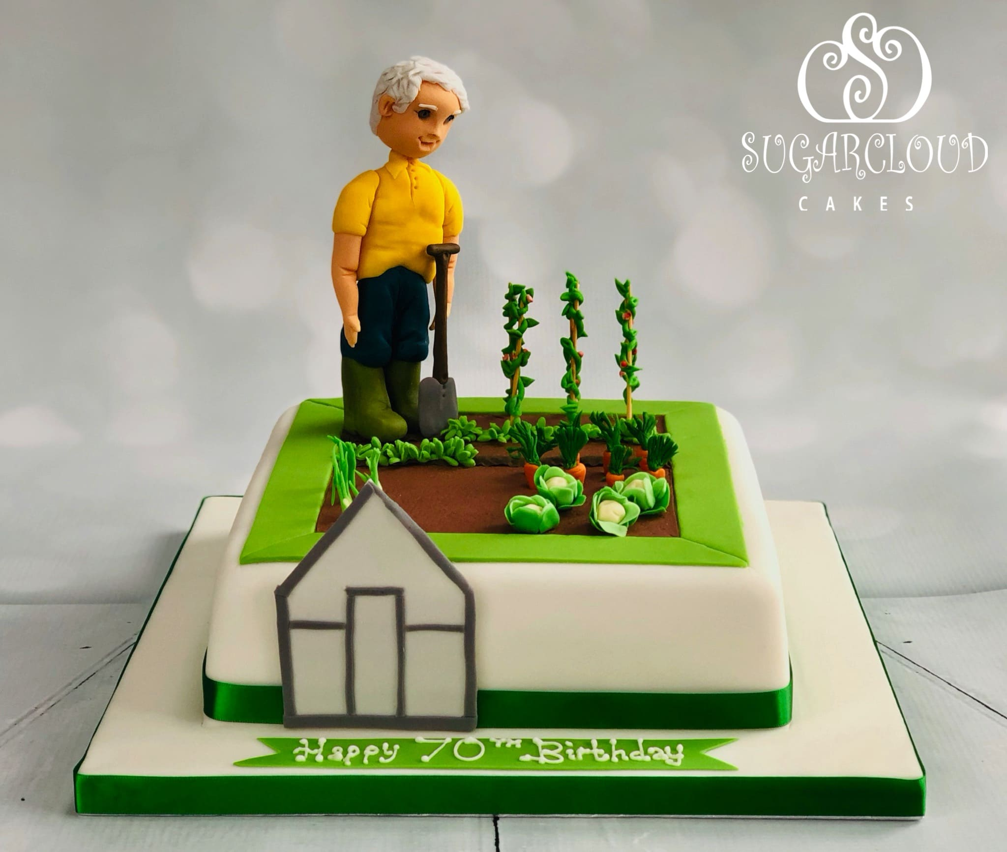 A Gardening Themed 70th Birthday Cake