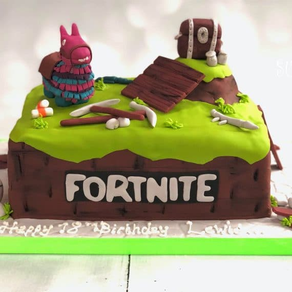 An 18th Birthday Fortnite Cake