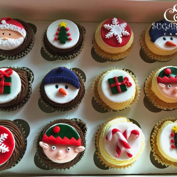Assorted Christmas Cupcakes- Willaston