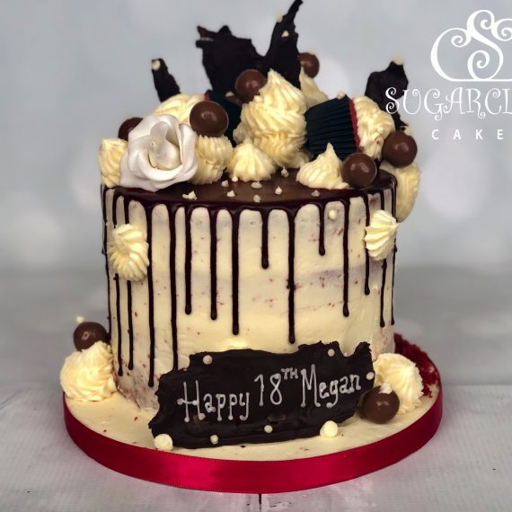 A Red Velvet 18th Birthday Cake for Megan, Crewe