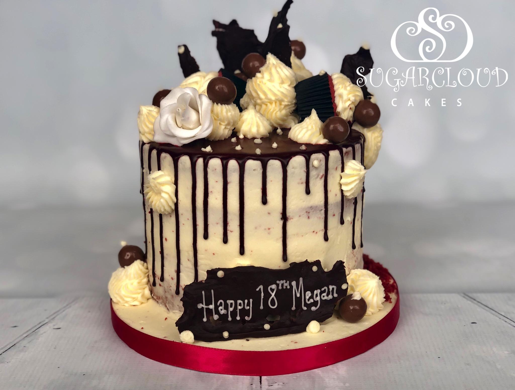 A Red Velvet 18th Birthday Cake for Megan, Crewe