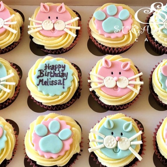 Cat and Dog Themed Birthday Cupcakes, Haslington