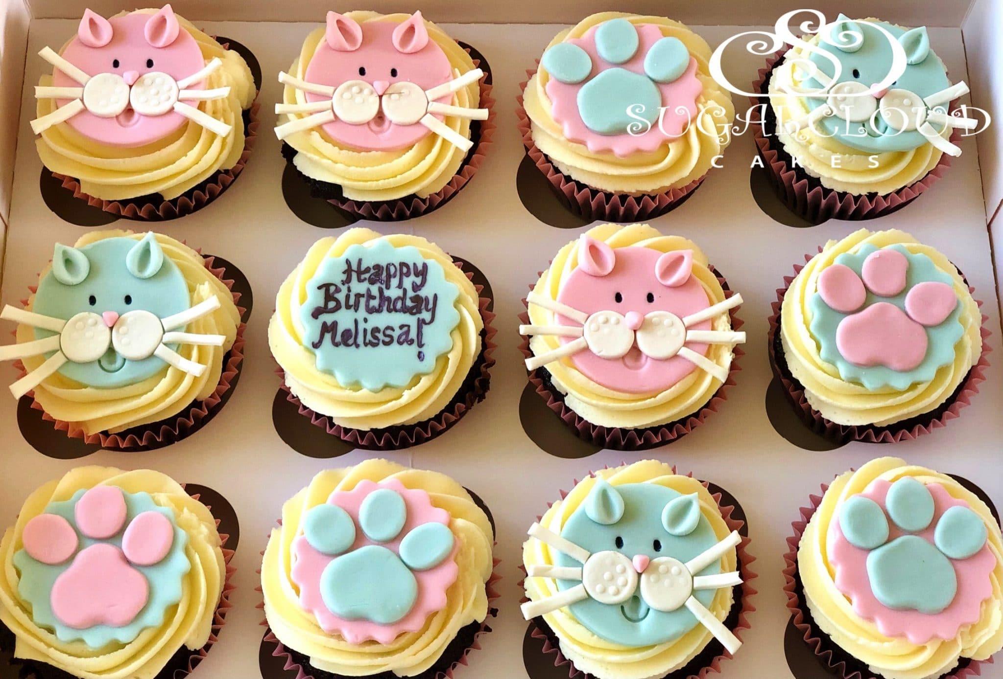 Cat and Dog Themed Birthday Cupcakes, Haslington