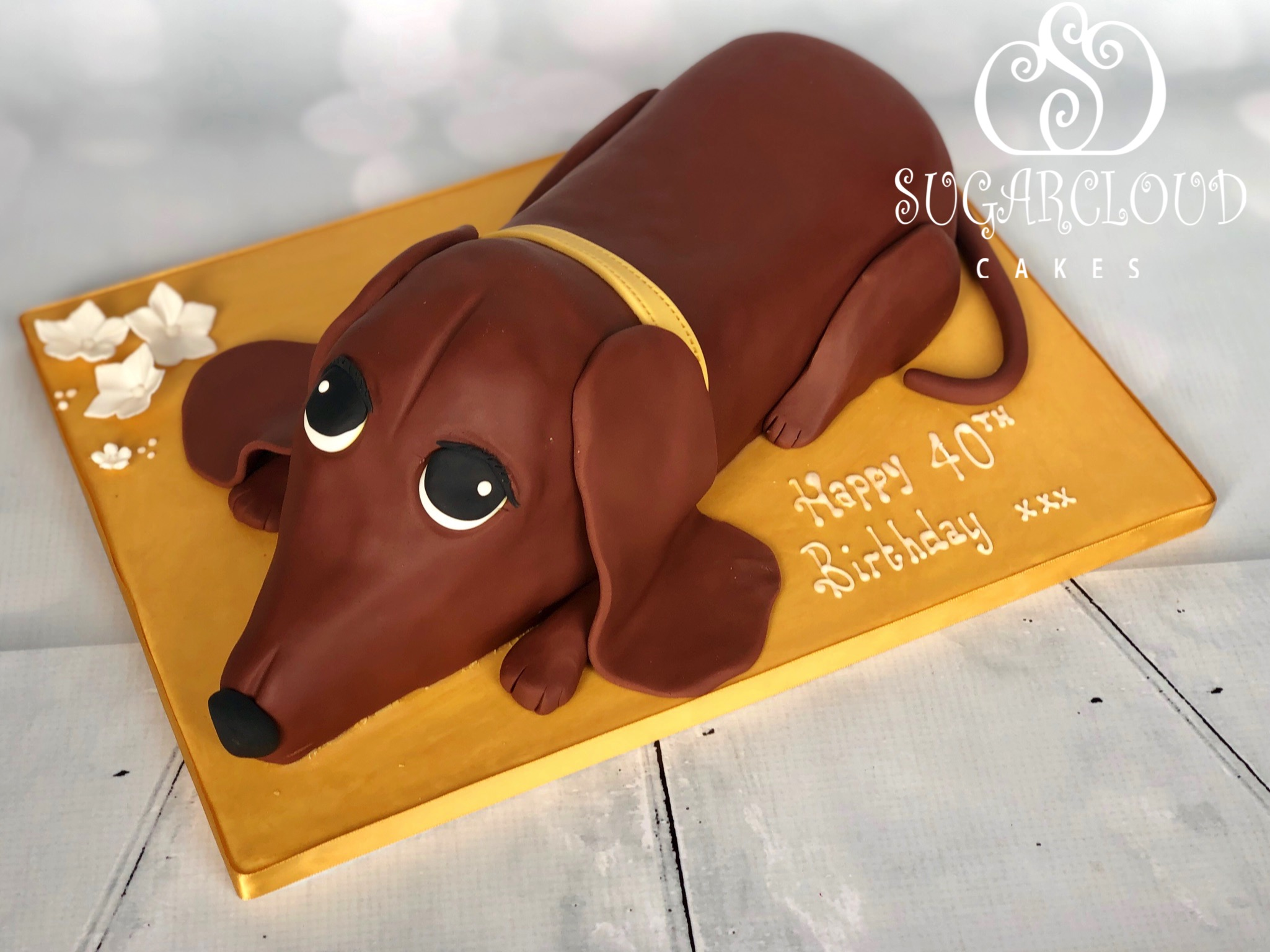 A Carved Dachshund Cake for a Lockdown 40th Birthday, Whitchurch
