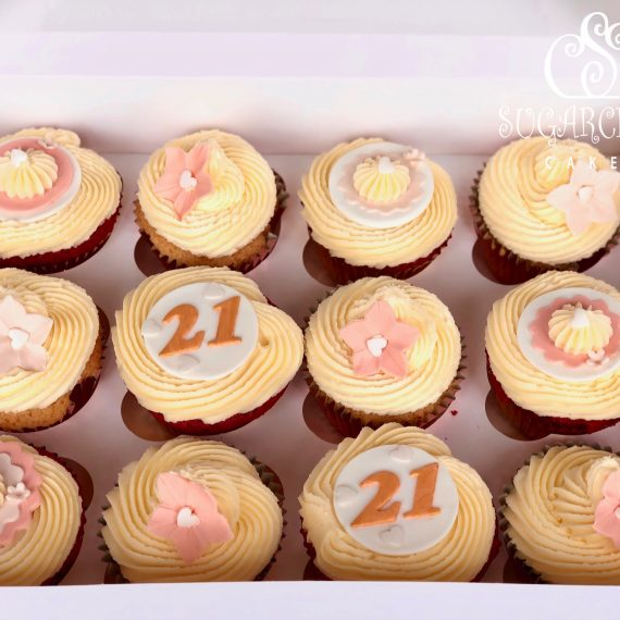 Vanilla Sponge and Red Velvet 21st Birthday Cupcakes, Crewe
