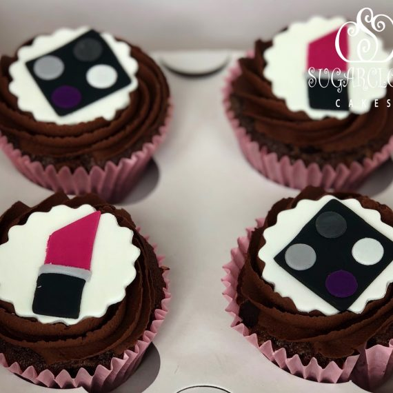 Make-up Themed Chocolate Cupcakes