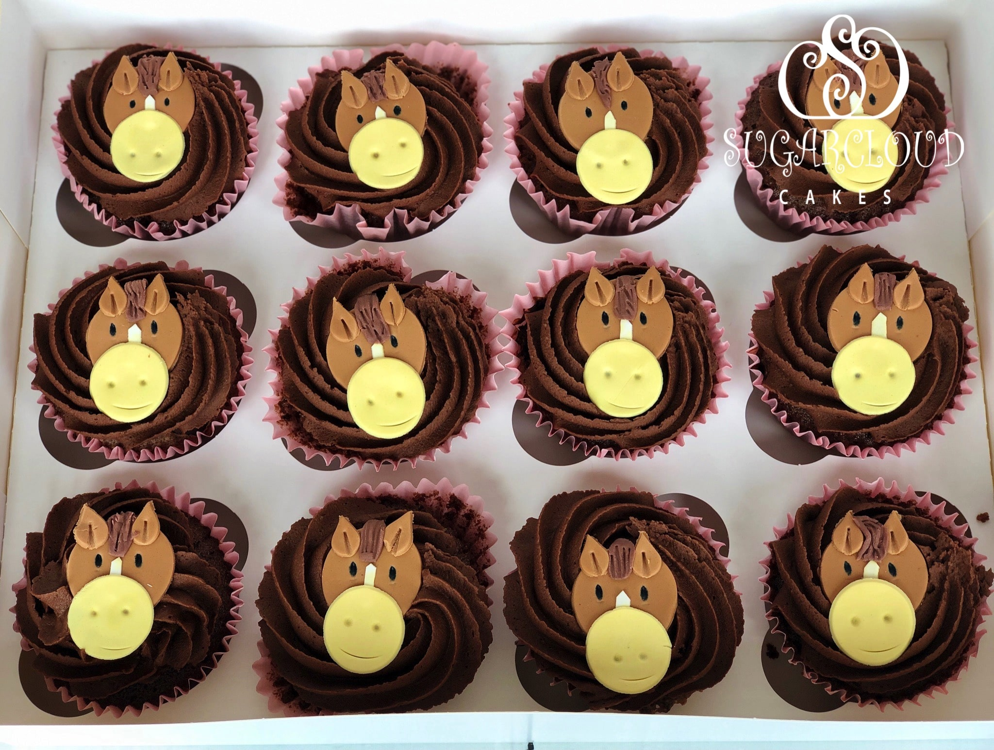 Horse Themed Double Chocolate Chip Cupcakes