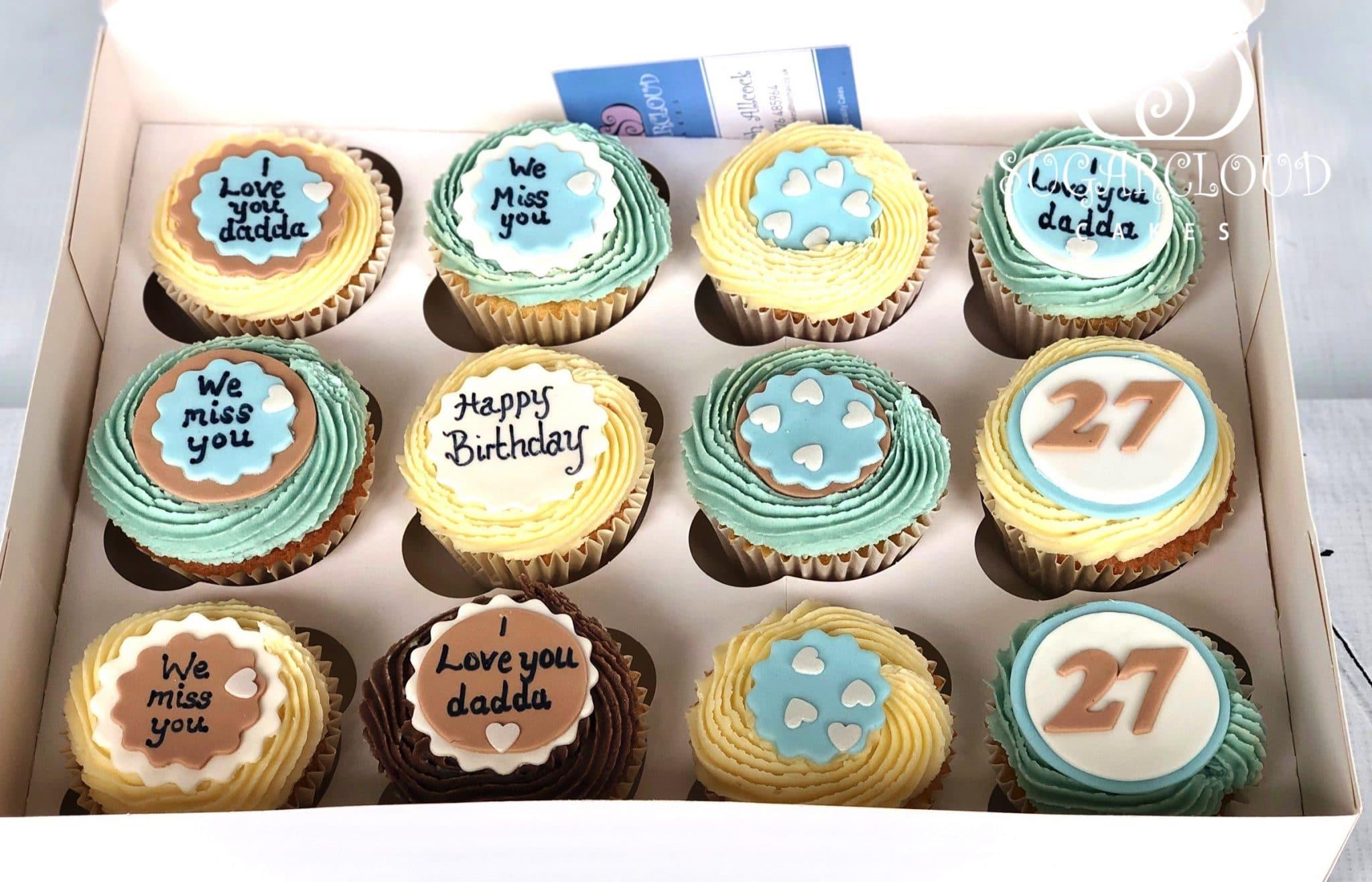 Vanilla and Chocolate Birthday Cupcakes