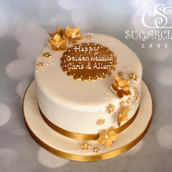 Chris and Allan's Golden Wedding Anniversary Cake