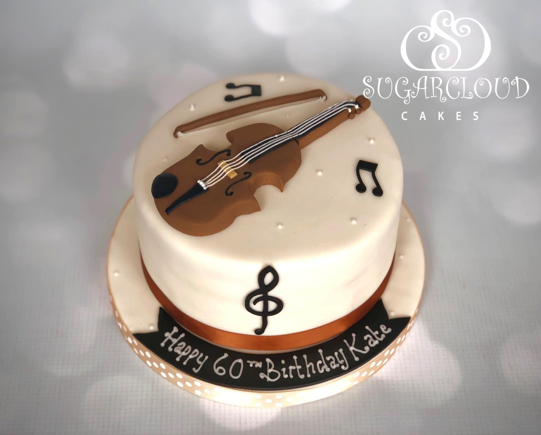 A 60th Birthday Cake for a Keen Violinist, Nantwich