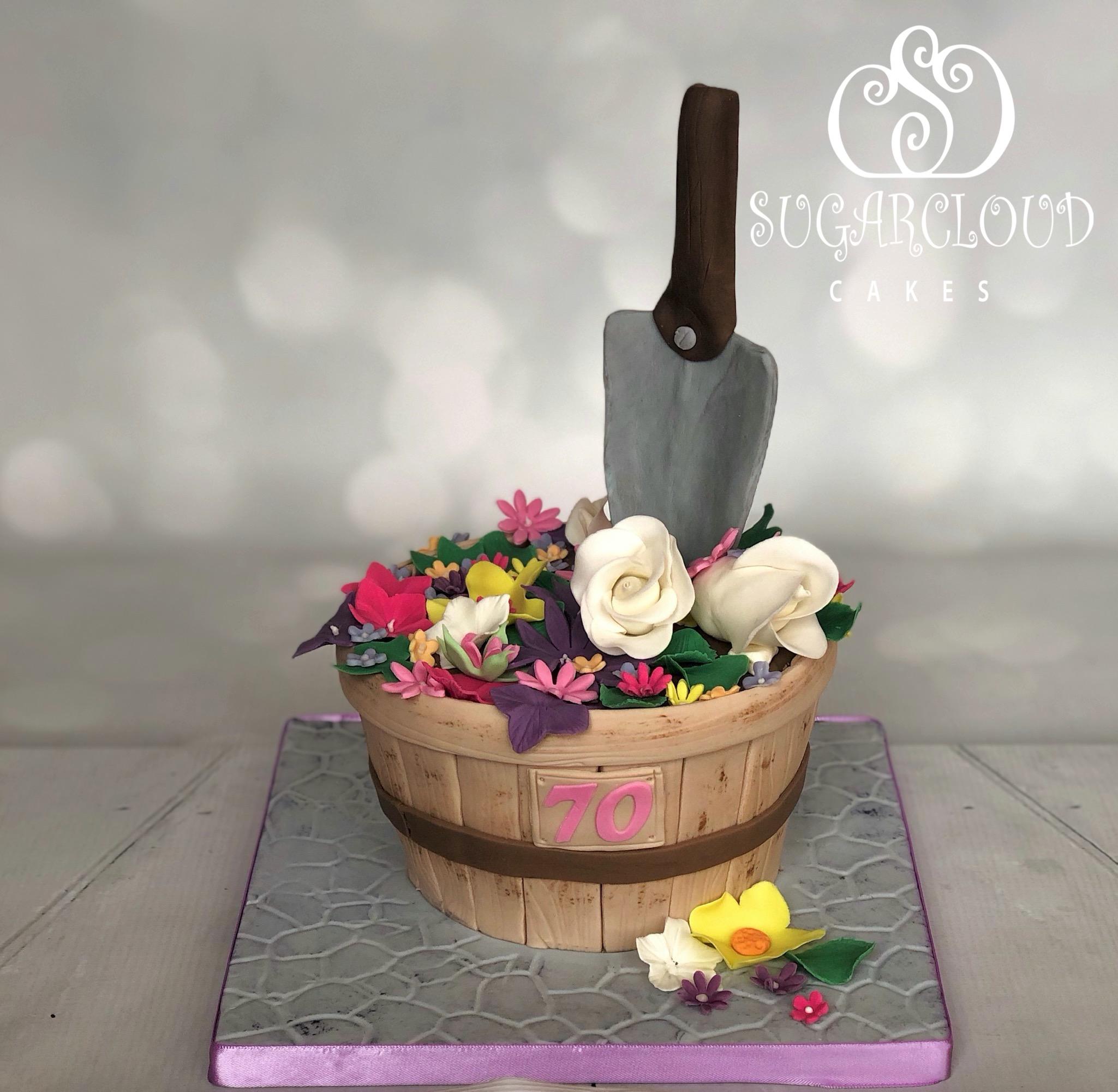 A 70th Birthday Gardening Themed Cake, Calveley
