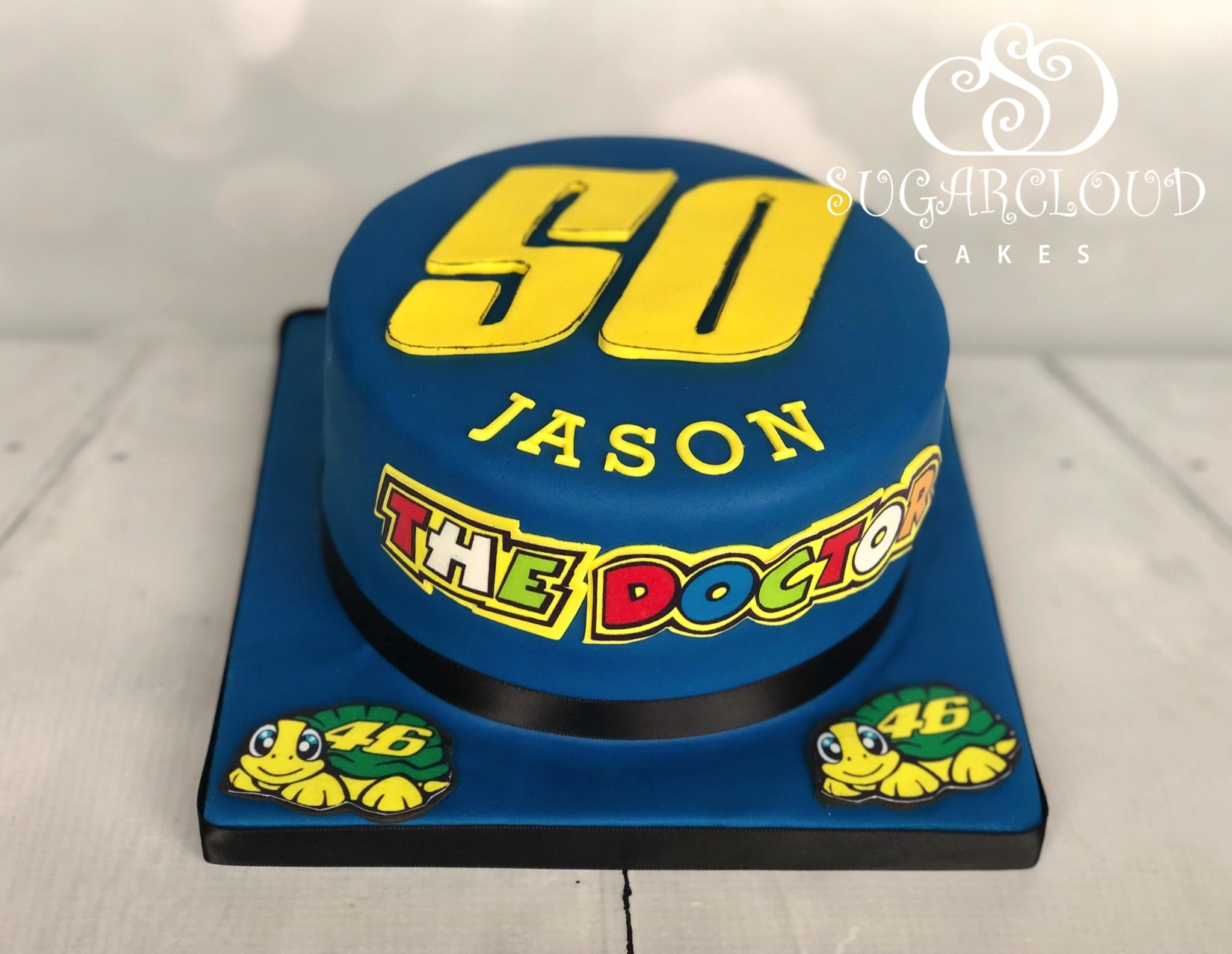 A Valentino Rossi Themed 50th Birthday Cake, Crewe