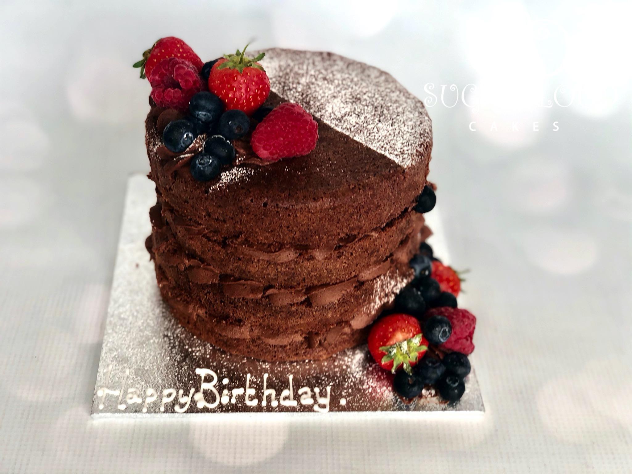 A Chocolate Orange and Fruit Birthday Cake, Sandbach