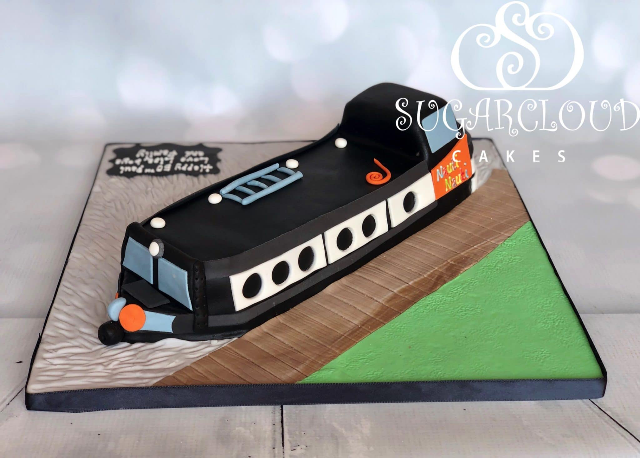 A 50th Birthday Narrow Boat Cake for Paul, Crewe