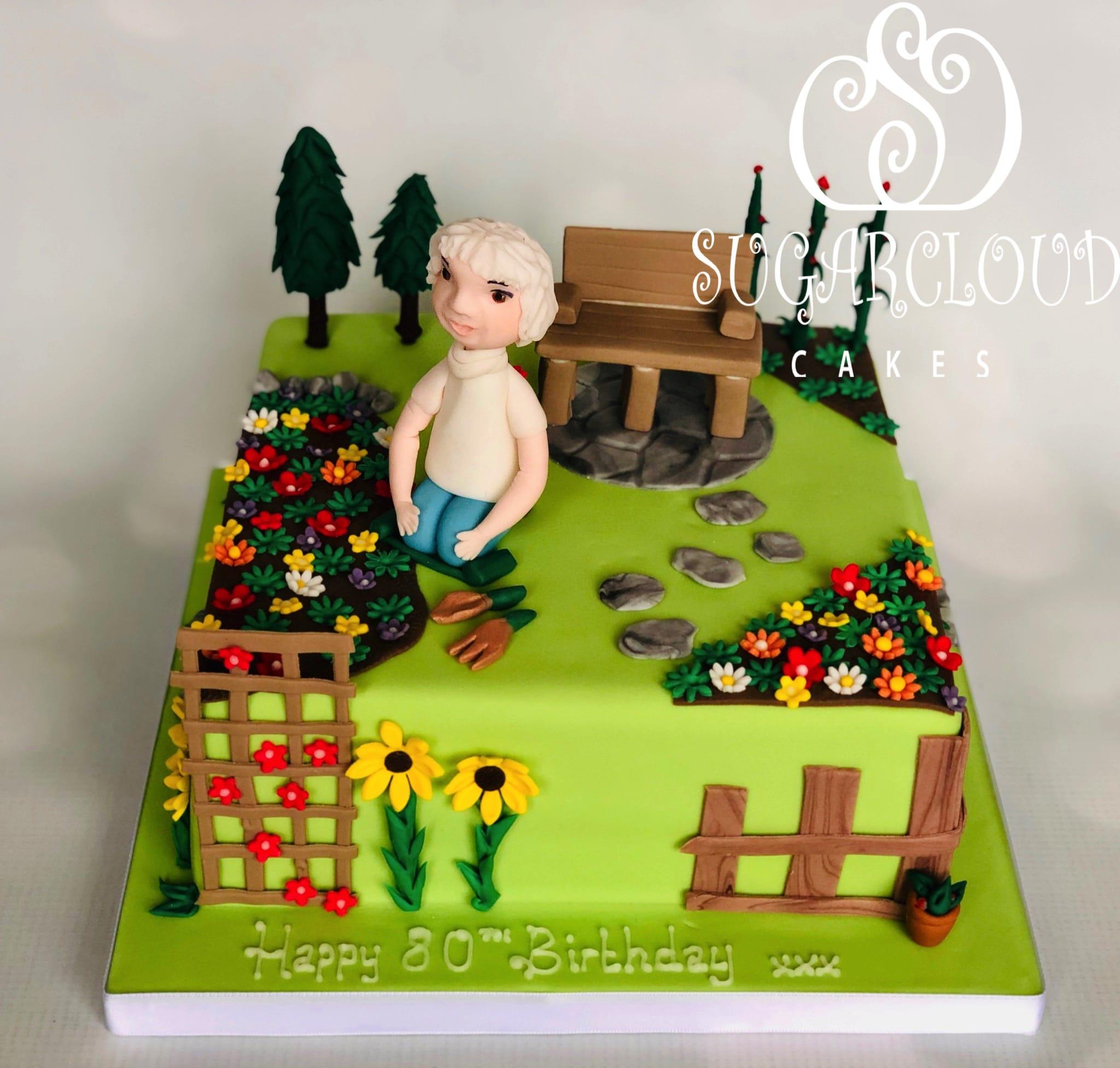An 80th Birthday Carrot Cake for a Keen Gardener, Sunderland