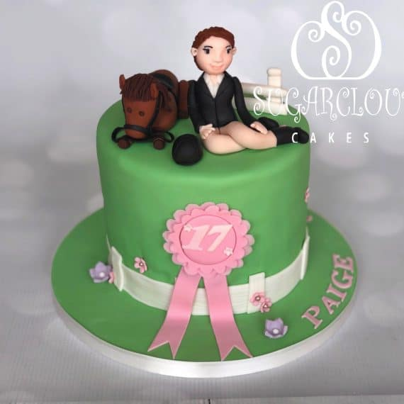 A Horse Themed Surprise 17th Birthday Cake, Crewe