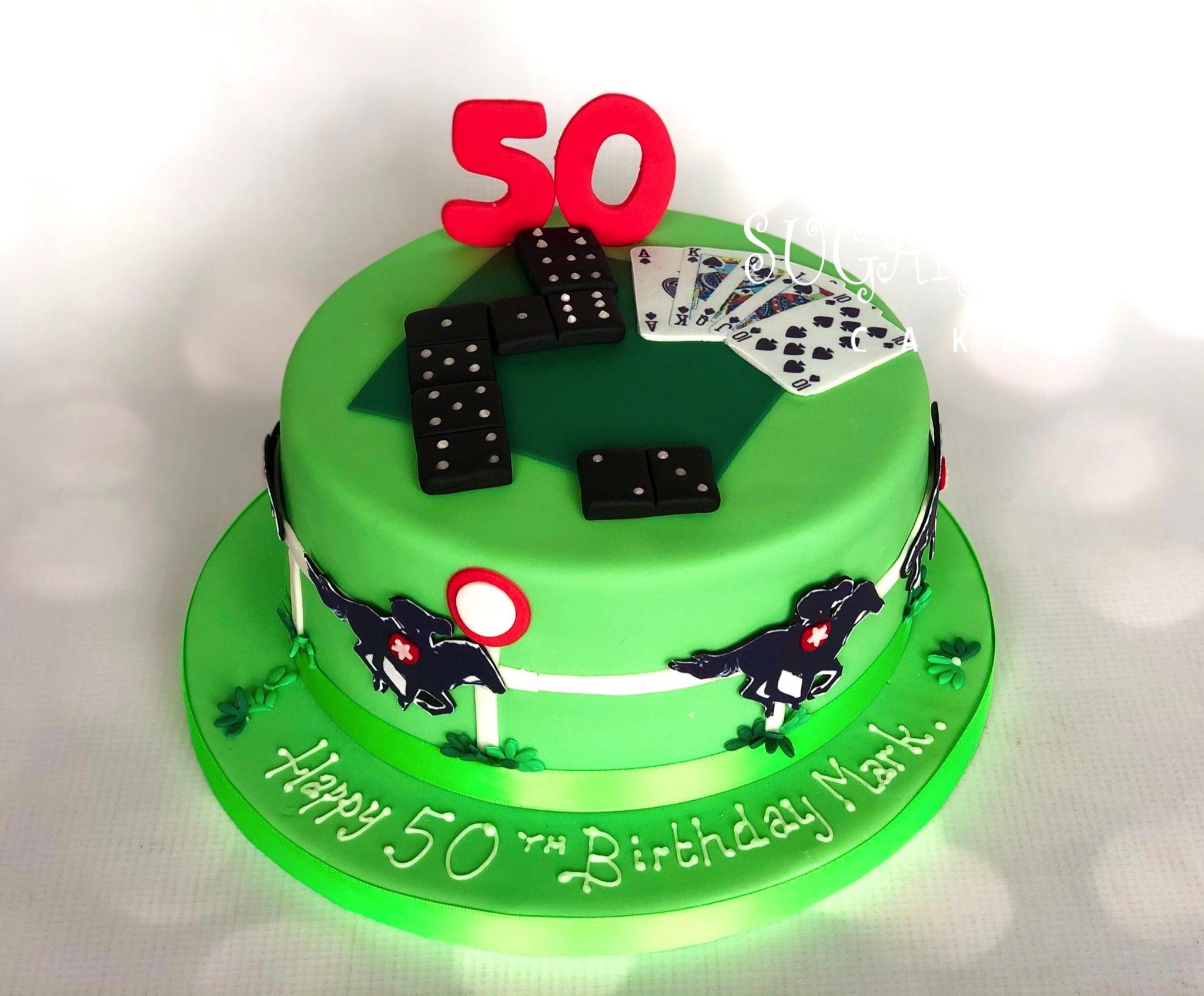 A Gambling Themed 50th Birthday Cake, Wistaston