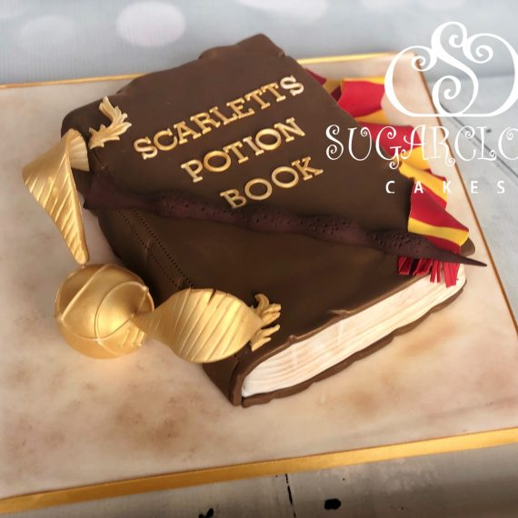 A dairy free and hens egg free Harry Potter themed birthday cake