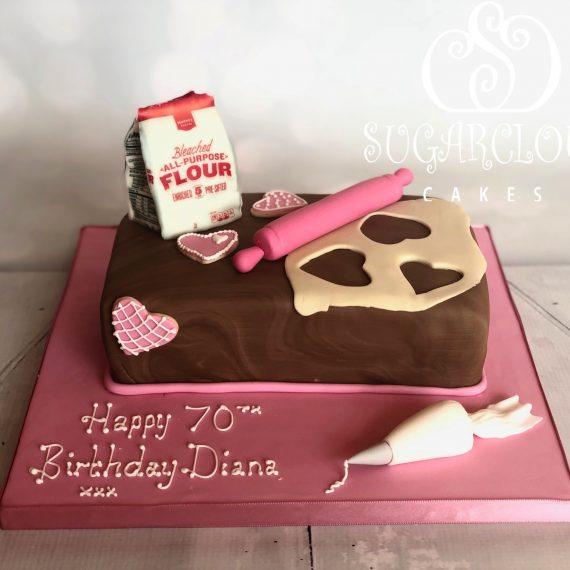 A Baking Themed 70th Birthday Cake, Crewe