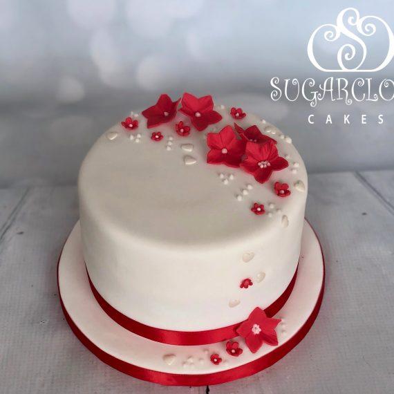 A 40th Ruby Wedding Anniversary Cake